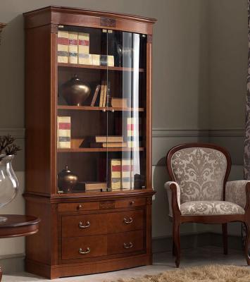 Библиотека (книжный шкаф) Panamar 825.001 + тумба 835