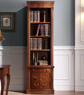 Библиотека (книжный шкаф) Panamar 827 + тумба 837