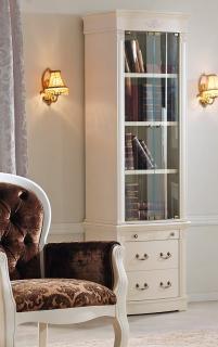 Библиотека (книжный шкаф) Panamar 827.001 + тумба 837 белый