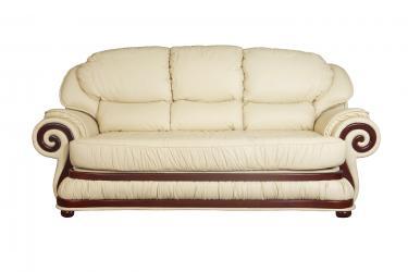 Кожаный диван Swirl трехместный