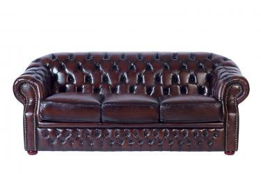 Кожаный диван Paul трехместный