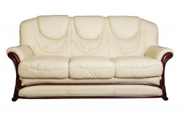 Кожаный диван Anna трехместный