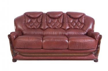 Кожаный диван Maria трехместный