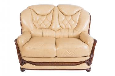 Кожаный диван Maria двухместный
