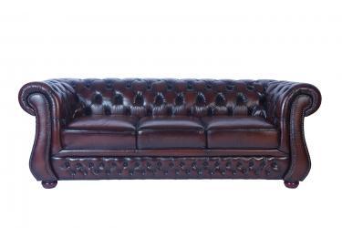 Кожаный диван Karen трехместный
