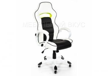 Игровое компьютерное кресло Lider черно-белое