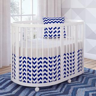 Кроватка овальная TreeO White 120*90