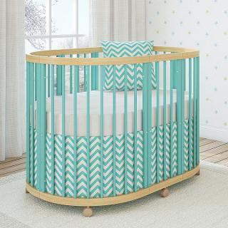 Кроватка овальная TreeO Mint 120*90