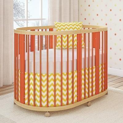 Кроватка овальная TreeO Coral 120*90