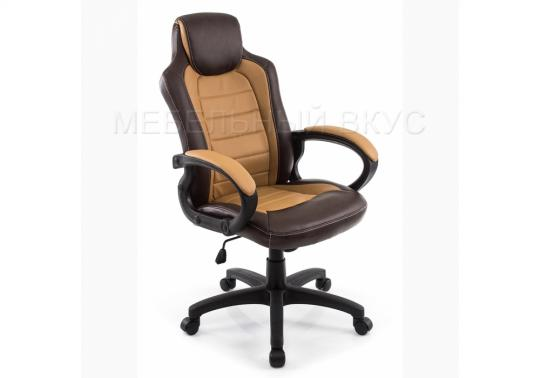 Игровое компьютерное кресло Kadis коричневое / бежевое