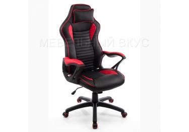 Игровое компьютерное кресло Leon красное / черное