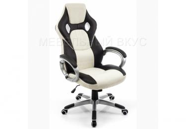 Игровое компьютерное кресло Navara кремовое / черное