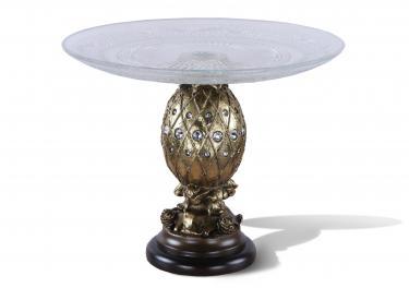 Фруктовница-конфетница Джуэли (Античное золото)