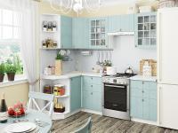 Кухня Прованс угловая (Голубой)