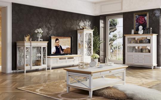 Гостиная Verona, цвет Белый с золотом
