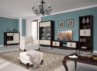 Гостиная Лавиано, цвет Венге-Американский орех-Агат
