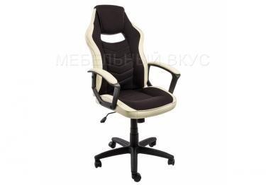 Игровое компьютерное кресло Gamer черное / бежевое
