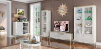 Гостиная Венеция белый + белое золото