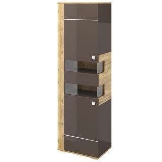 Шкаф для одежды левый Наоми, цвет Дуб золотой + Трюфель