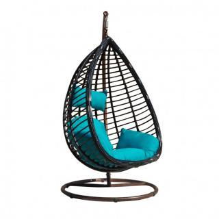 Подвесное кресло KVIMOL KM 0016 синяя подушка