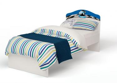 Кровать классика La-Man для мальчика с рисунком без ящика