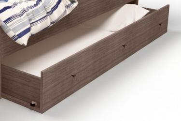 Ящик выдвижной под кровать ваниль/дуб Pirat