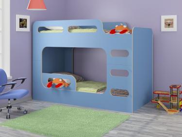 Двухъярусная кровать Дельта-Макс голубой