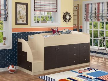 Кровать-чердак Дюймовочка 4 венге