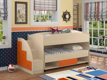 Кровать Дюймовочка 4/3 оранжевый