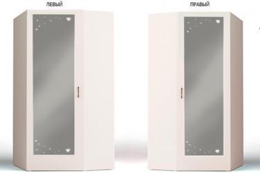 Шкаф угловой Princess белый PR-1043/розовый PR-1043-P