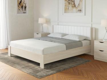 Кровать Soft 1 (Ясень Шимо Светлый + Белый)