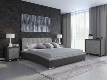 Кровать Corso-1 (Темно-серый с серым)