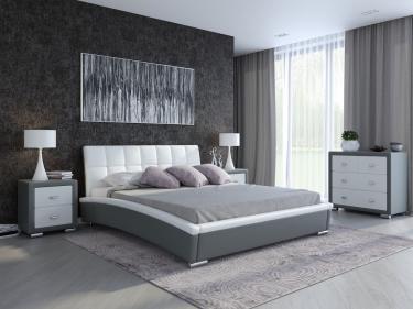 Кровать Corso-1 (Серый с белым)