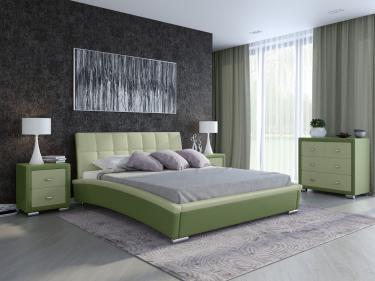 Кровать Corso-1 (Олива + зеленое яблоко)