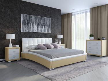 Кровать Corso-1 (Кремовый с белым)
