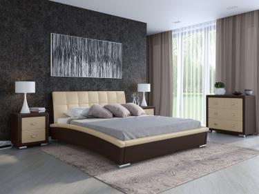 Кровать Corso-1 (Коричневый с кремовым)