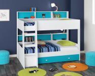 Двухъярусная кровать Golden Kids-1 (белый/голубой)