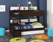 Двухъярусная кровать Golden Kids-1 (венге/белый)
