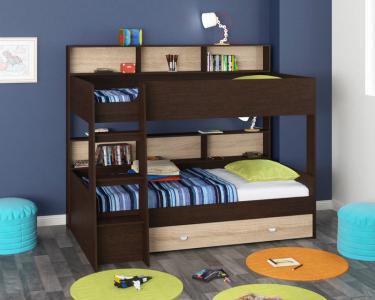 Двухъярусная кровать Golden Kids-1 (венге/дуб сонома)