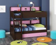 Двухъярусная кровать Golden Kids-1 (венге/розовый)