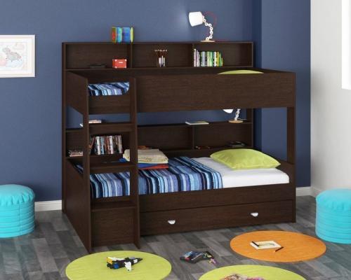 Двухъярусная кровать Golden Kids-1 (венге)