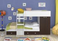 Двухъярусная кровать Golden Kids-2 (белый/венге)