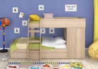 Двухъярусная кровать Golden Kids-2 (дуб сонома)