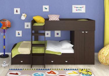 Двухъярусная кровать Golden Kids-2 (венге)