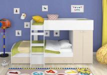 Двухъярусная кровать Golden Kids-2 (белый/бежевый)