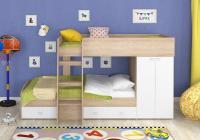 Двухъярусная кровать Golden Kids-2 (дуб сонома/белый)