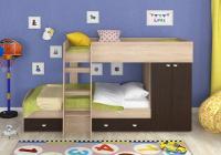 Двухъярусная кровать Golden Kids-2 (дуб сонома/венге)