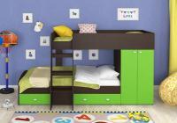 Двухъярусная кровать Golden Kids-2 (венге/зеленый)