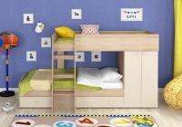 Двухъярусная кровать Golden Kids-2 (дуб сонома/бежевый)