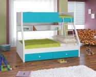 Двухъярусная кровать Golden Kids-3 (белый/голубой)